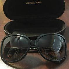 Michael Kors Sunglasses Like New !!! Dark Tortoise Color NWOT MKors on both sides on Gold Tone  . Sunglasses with Box and Cleaning Cloth .  I'm just Purchase,  but I'm need more bigger for my face. Are so beautiful sunglasses and like new !!! Bundle and Save More !!! I'm Shipping Fast !!!! Michael Kors Accessories Sunglasses