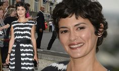 Monochrome chic: Audrey Tautou is a picture of elegance in black and white as she attends Angouleme Francophone Film Festival