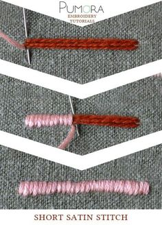 lexicon of embroidery stitches: short satin stitch