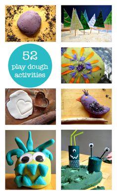 52 Kids play dough activities