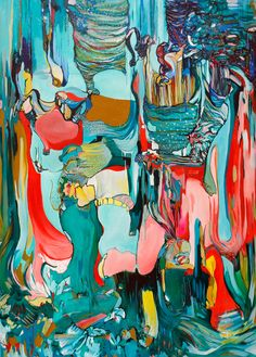 "Saatchi Online Artist: Diana Roig; Oil, 2013, Painting ""Most People See Vaginas."""