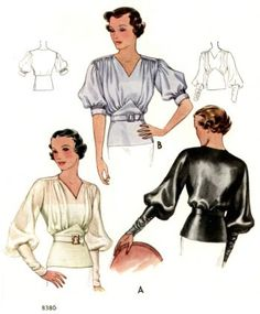 1930s Evening Blouses