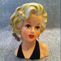 Marilyn Monroe vintage head vase
