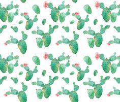 """8"""" Desert Rose - White fabric by shopcabin on Spoonflower - custom fabric"""