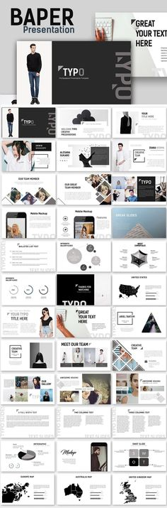 121 best business powerpoint templates images on pinterest in 2018 typo creative minimal powerpoint template powerpoint themesbusiness powerpoint templatesgreat wajeb Choice Image