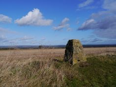 The stone trig on Caulkleys Bank in the Howardian Hills