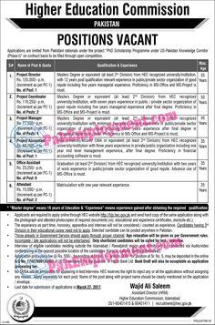 Title Of   Job          Detail of   Job              Name Of Job          Pakistan Higher Education Commission   (HEC) ...