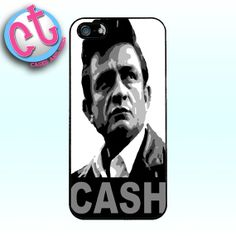 Johnny Cash Black and White Portrait Case iPhone by CasesandTees, $12.99