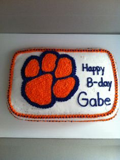 Clemson Cake Cupsncakes Pinterest Cake And Cups - Clemson birthday cakes