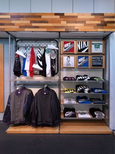 Nike | Wall Display (variation of loose hanging, on hangers, folded, and displayed in box form