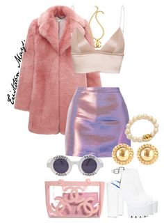 """Scream Queens Look #2."" by monroestyles ❤ liked on Polyvore featuring Whistles, T By Alexander Wang, Jeffrey Campbell, Chanel and ScreamQueens"