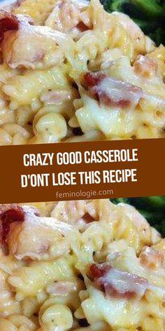 Best Chicken Casserole, Easy Casserole Recipes, Casserole Dishes, Ham Casserole, Easy Dinner Casserole, Pasta Dishes, Food Dishes, Main Dishes, Side Dishes