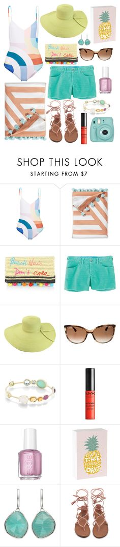 """Summer sunshine: beach ready"" by darellecourtney ❤ liked on Polyvore featuring Mara Hoffman, Serena & Lily, Rebecca Minkoff, Carve, Chanel, Ippolita, NYX, Essie, ArteHouse and Monica Vinader"