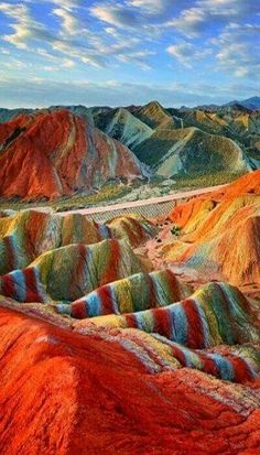 Magical Rainbow Mountains at the Zhangye Danxia Landform Geological Park in Gans. Magical Rainbow Mountains at the Zhangye Danxia Landform Geological Park in Gansu , China: Amazing destinations: 20 Amazing Travel Destinations You've Dreamt Of Zhangye Danxia Landform, Places To Travel, Places To See, Travel Stuff, Wonderful Places, Beautiful Places, Amazing Places On Earth, Destination Voyage, Amazing Destinations