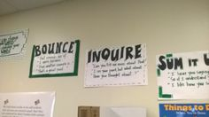 Bounce cards posters in the classrooms
