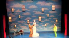 "Opera Company of Middlebury's production of Rossini's ""The Barber of Seville"" at the Town Hall Theater (2009).  Douglas Anderson, Director, Mark Shapiro, Conductor and Carol Christensen, Chorus Director.  Costume design by Debra Anderson (using TDF Costume Collection pulling services). Max Kraus/Trent Campbell, Photographers #costume #costumedesign #surrealism"