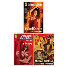 Michael Crichton 3 Book Set Collection Inc Drug Of Choice, Binary, Easy Go