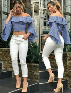 Best Summer Fashion Part 2 Casual Chic, Casual Wear, Girl Fashion, Fashion Dresses, Fashion Looks, Womens Fashion, Paris Fashion, Fashion News, Blouse Styles