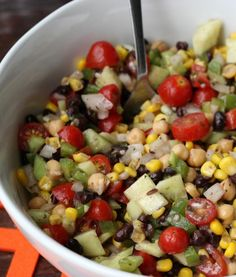 chickpea summer salad