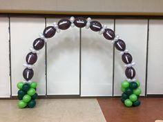 Football balloon arch