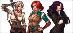 Ciri – Triss – Yennefer : The Witcher 3 » ScummBar
