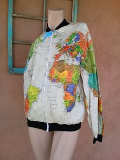Seriously cool tyvek world map poncho lightwing impossiblylight vintage 1990s jacket world map tyvek paper 90s by bycinbyhand gumiabroncs Images