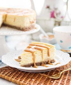 Gluten-Free Keto-Friendly Salted Caramel Cheesecake