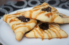 chocolate ganache and salted caramel hamantaschen - the best hamantaschen you will ever eat