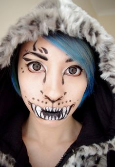 15 Halloween Cat Face Makeup Ideas For Girls & Women 2017 Cat Face Makeup, Face Paint Makeup, Makeup Art, Makeup Ideas, Makeup Tips, Photomontage, Cat Halloween Makeup, Halloween Ideas, Halloween Costumes