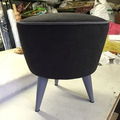 black and gray together, lacquered legs Handmade in Italy