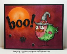 CC546 Crazy Boo Bird by pegmac71 - Cards and Paper Crafts at Splitcoaststampers