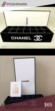 Chanel Vanity Lipstick Makeup Organizer New with box- 14 slots that measure 1 inch CHANEL Makeup Brushes & Tools