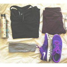 "cupcakesandcurlsyyc: ""Monday Morning : Running Essentials ft. @nike and @lululemon """