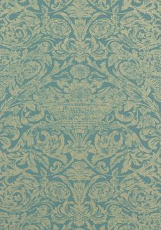 CADIZ, Teal, T7649, Collection Damask Resource 3 from Thibaut