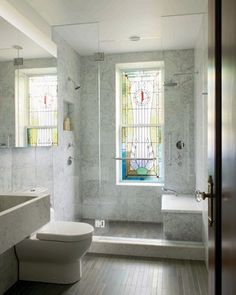 Park Slope Townhouse - contemporary - Bathroom - New York - Delson or Sherman Architects pc