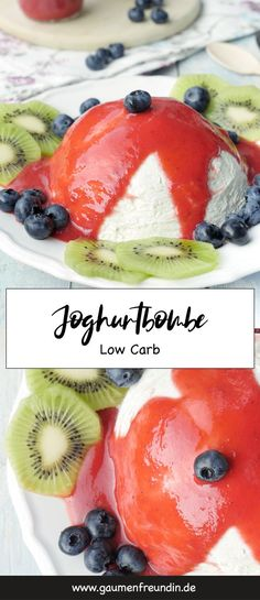 Low Carb Joghurtbombe mit Erdbeersoße Low Carb yoghurt bomb -the eye-catcher at every party - health Strawberry Bread, Strawberry Sauce, Paleo Recipes, Low Carb Recipes, Yogurt Recipes, Italian Chopped Salad, Keto Chocolate Cake, Grilled Chicken Salad, Healthy Pumpkin