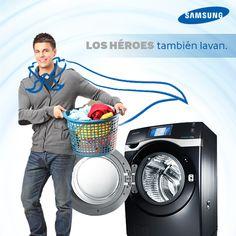 El príncipe azul lava su propia ropa con #Samsung.