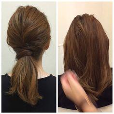 yu nakamura ヘアアレンジ hairarrangeさんはInstagramを利用しています:「簡単ローポニー♡ #セルフアレンジ #ヘアカタログ#ヘアアレンジ#一宮市 #名古屋 #栄 #レイフィールド#サロンモデル #ミディアム#ポニーテール#hair#haircolor」