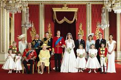 The Royal Wedding Group in the Throne Room of Buckingham Palace, April 29, 2011.