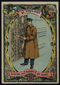 El Vigilant felicita les Pasqües de Nadal. Any 1935. Fons Joan Amades. #Nadal #Christmas #greeting #card