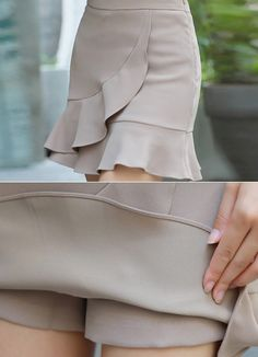 Korean Women`s Fashion Shopping Mall, Styleonme. 90s Fashion, Fashion Outfits, Womens Fashion, Culottes Outfit, African Fabric, Korean Women, Western Wear, Skort, Short Skirts