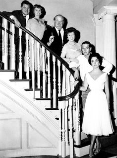 The cast of 'Cat on a Hot Tin Roof' [1958]