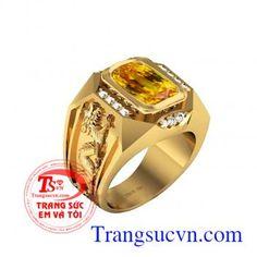 Nhẫn sapphire vàng Mệnh Kim