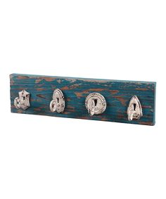 Blue Distressed Wall Hook | Daily deals for moms, babies and kids