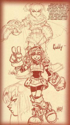Gully Sketches, Battle Chasers | Joe Madureira