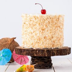 This Pina Colada Cake turns your favourite tropical cocktail into one delicious dessert!