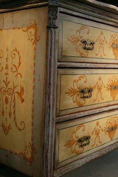 hand painted dresser: