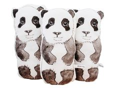 Rebecca Kiff Panda Soft Toy Cushion from Molly Meg