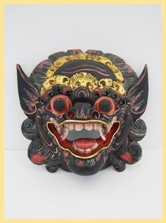 BALINESE BARONG MASK - Mask of Hindu Influence. Artifact. From Bali, Indonesia. Tribal Art by ImpalaArt on Etsy
