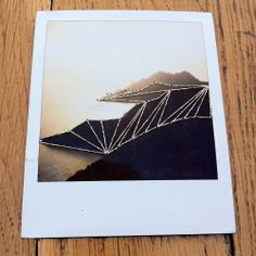 Embroidery on polaroid - Corsica by Julie Robert #embroidery #polaroid